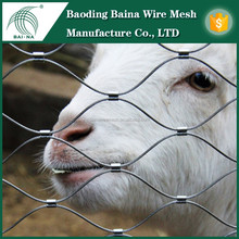 Flexible Buckle Stainless Steel Rope Mesh Fence