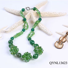 Green crystal agate necklace superstar accessories jewelry