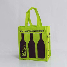 Travel Reusable Custom Tote Cooler Wholesale Felt Red Purse 6 Bottle Non Woven Wine Bag With Spout