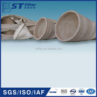 Dia155*5000mm high temperayture resistance Double filling face twill filter bag for petrifaction
