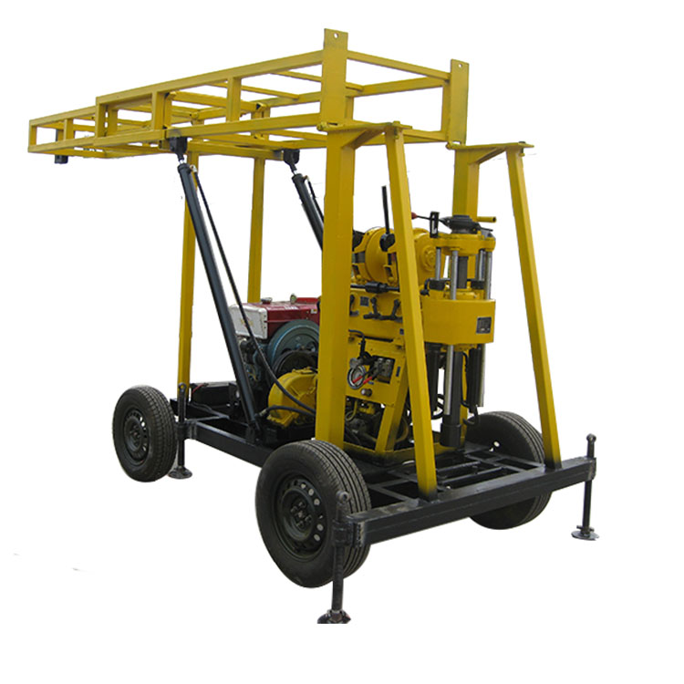 Four wheel trailer mounted water well drilling rig for sale