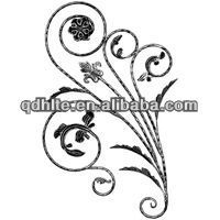 China supplier lowes wrought iron railings, fence, rosette