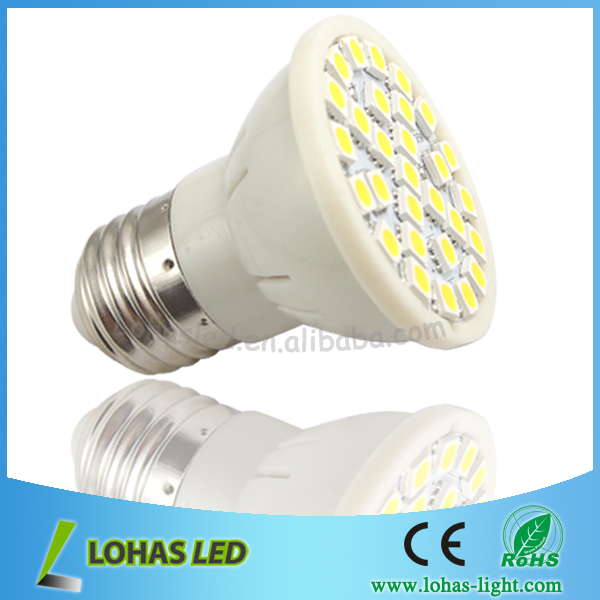 Newest design High power e27 5w 120 degree 29pcs led 5050 Chip plastic CE&ROHS approval led SMD light