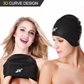 Swimming Caps, ZIONOR High-end 3D Silicone Waterproof Swim Caps Non-toxic Odorless Stretchy for Adult Men and Women