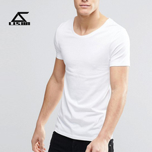 Short sleeve custom fabric tshirt high quality bulk plain white t-shirts