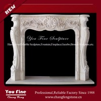 Indoor Used French Style Fireplaces for Marble Stone