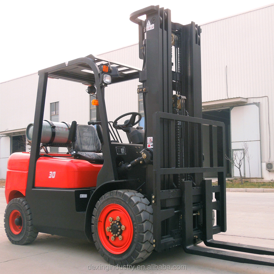 CPQ30 3 tons full free mast LPG Forklift with side shifter