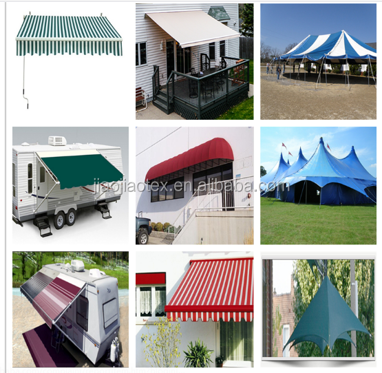 3-5 years warranty outdoor retractable awning fabric