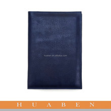 Huaben custom leather cover portfolio