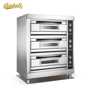 German 3 deck 6 trays bread oven industrial bakery bread pizza biscuit baking oven for sale