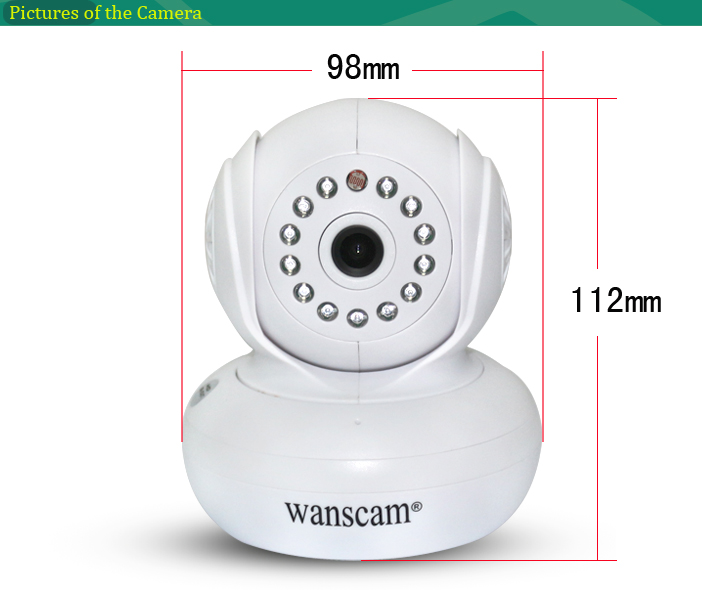 Wanscam wireless infrared digital video baby monitor with night vision wifi IP camera