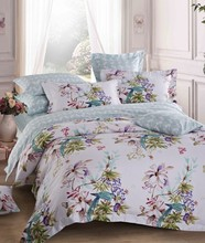 2016 latest design polyester fabric or cotton material fabric bedsheet ,duvet cover bedding set