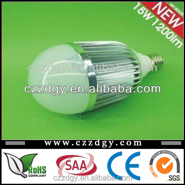 Ultra Bright! 1500LM 15W LED light Bulb E27 12V 24V+48hours test LED Lamp