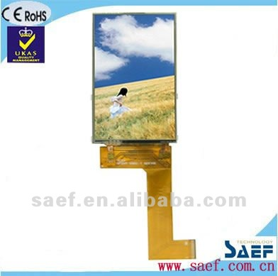 "3.20"" inch High contrast rwith Resistive Touch Panel WQVGA 240*( RGB) *400 Portrait color TFT LCD touch screen control panel"