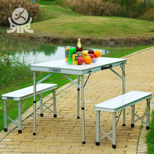 Easy used custom-made portable military metal leg 3ft folding table with chair