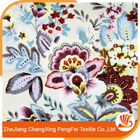 Hot sale flower border printed bed sheet fabric