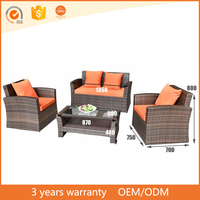 Latest Design Waterproof Leisure Outdoor Patio Sofas With Table Home Furniture