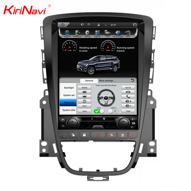 "KiriNavi Vertical Screen Tesla Style android 6.0 10.4"" car gps navigation system for opel Astra J dvd 4G radio"