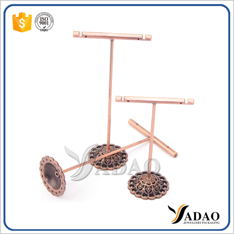 Customized and free design metal jewelry earring tree display stands