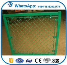 3ft garden chain link fencing, pvc coated chain link fencing straining wire, plastic road barrier with chain link made in China