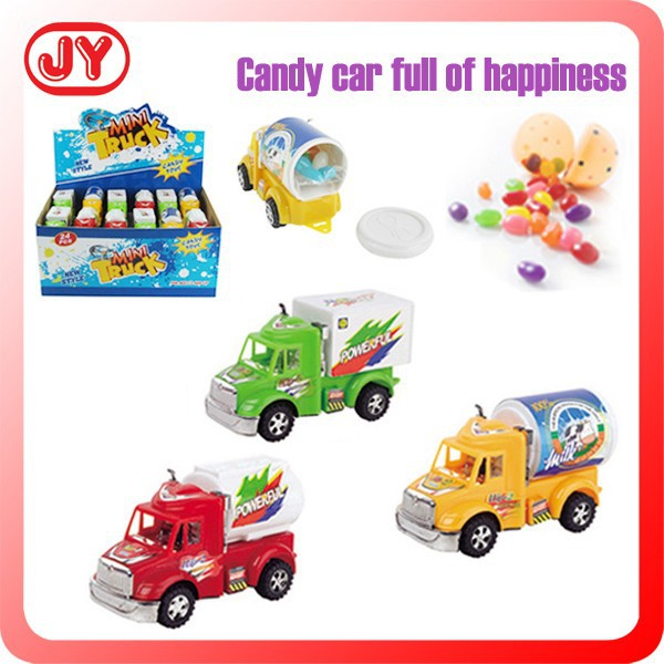 Funny plastic car candy toy with EN71