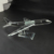 Exalted Airline Souvenir Gift K9 Crystal Glass Airplane Model