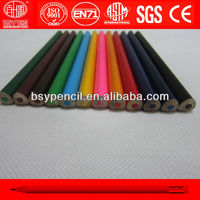 "7"" 12 pcs jumbo triangle color pencils"