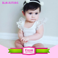 0-24M Solid White Lace Angel Wings Girls Romper Bodysuit O-Neck Newborn Baby Flutter Sleeve Onesie