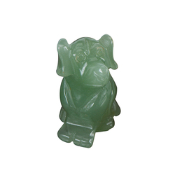 New Design Stone Carving Patterns Cute Animal Dog Sculpture Stone Chinese Zodiac Stone Crafts Natural Stone For Collection