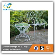 outdoor lounge wrought iron folding chair metal chair factory price hot sale GA6126