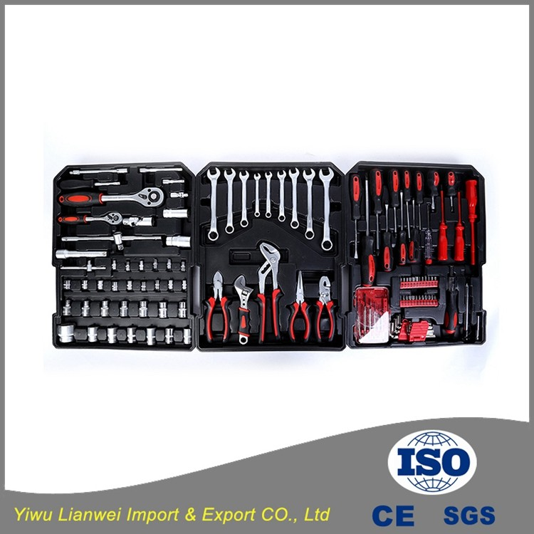 186pcs Aluminum Case Hand Tool kit hand kraft tool set
