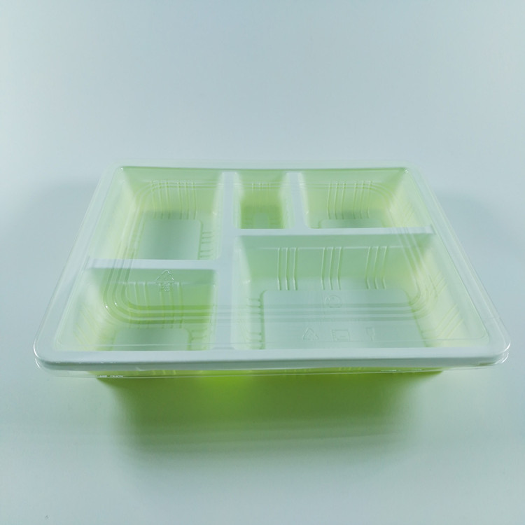 Factory direct sale green eco-friendly disposable plastic food container with lid