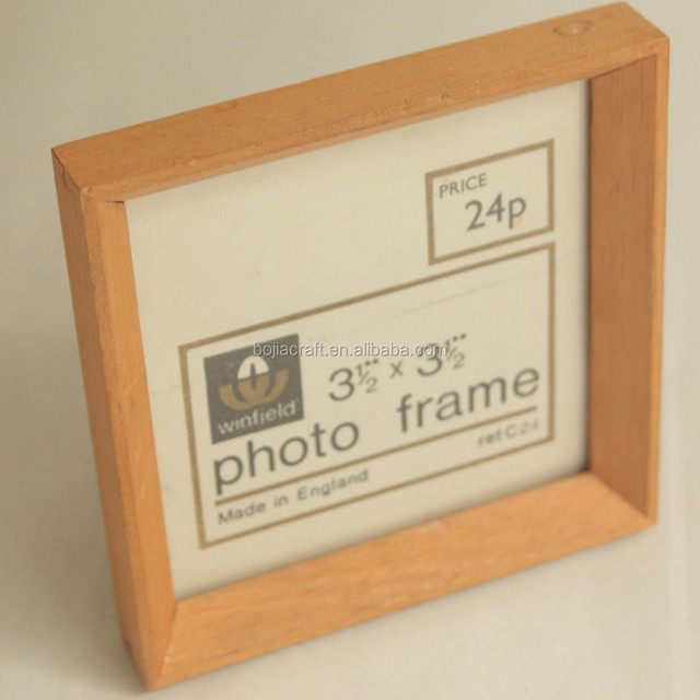 2017 new fashion wooden paper photo fram, beautiful printing wooden photo frame