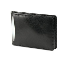 Genuine Leather ID wallet with money clip with customized logo