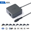 65W universal ac laptop adapter notebook travel charger with 11 tips 5V USB UL certification