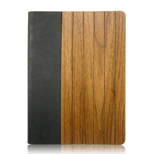 Natural walnut wooden leather case Shenzhen customize design back cover hot selling phone case for iPad 5