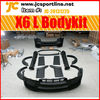 front rear bumper side skirts fender flare door panel trunk & roof spoiler for BMW X6 LU Style body kits
