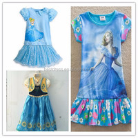 Child's Girls Cosplay Costume Cinderella Princess Party Christmas Cinderella Costumes dress