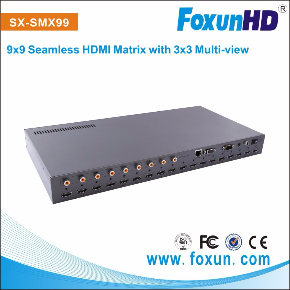 SHUNXUN SX-SMX99 with Coaxial Audio interface for each output ,audio and video switch simultaneously HDMI matrix switch