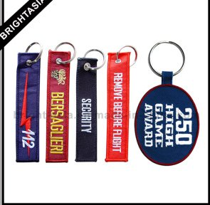Custom embropidery keychain and promotional keyring
