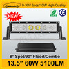 bar lights 5100LM 13.5inch 60w led light bar 6000k