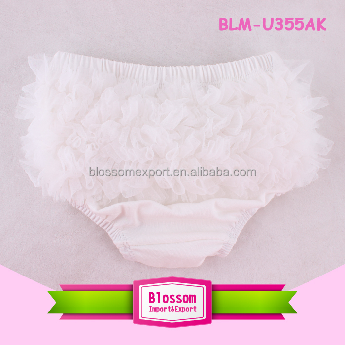 2016 wholesales fashion girls solid chiffon ruffle baby bloomers baby newborn diaper cover