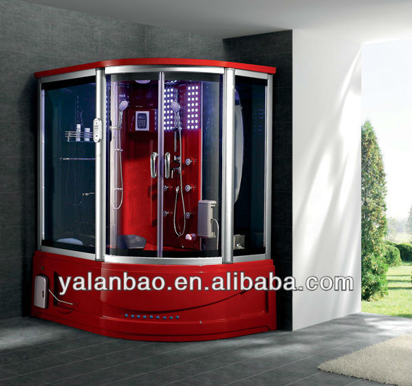 g165 corner complete steam shower units buy corner shower shower unitsauna steam shower unit product on alibabacom - Steam Shower Units