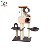 Double Colors Cat Gym With Bristles Toy Durable Scratching Post For Cats