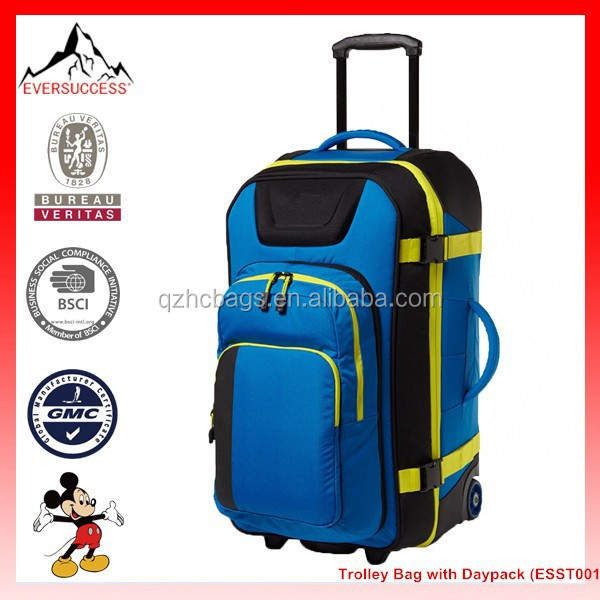 New Works Combo Roller Luggage Trolley Bag with Daypack (ESST001)