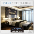 Steel structure 5 star ranked hotel prefabricated high quality suite design