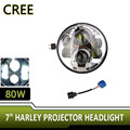 Pair JK Jeep Wrangler 7 Inch Round LED Headlight White Halo Angel Eye & DRL LED Projection Lens For Harley Davidsion Motorcycle