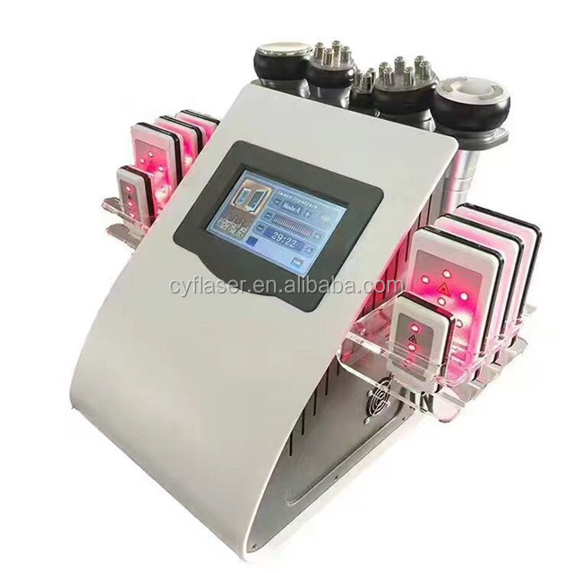 Newest high quality Vacuum cavitation 40k ultrasound RF laser slimming machine ultrasonic beauty instrument with 8 laser handle