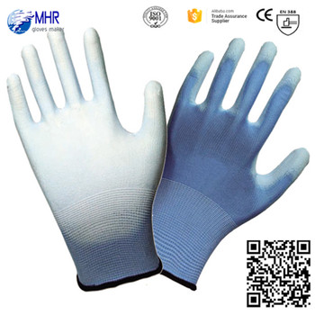 13g thin nylon liner PU gloves/working glove en388