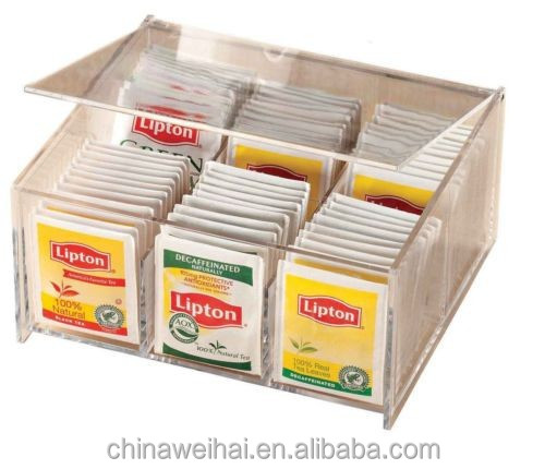 Mouse over image to zoom Acrylic Tea Bag Box Storage for 84 of Your Favorite Teas 6 Compartments NEW
